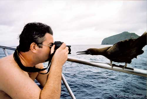Galapagos Islands - Simon Rogerson and Friend © Huntzinger